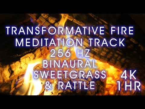 Fire Meditation Healing Sounds for Creative Energy and Transformation. Binaural 4K 256 Hz. ASMR