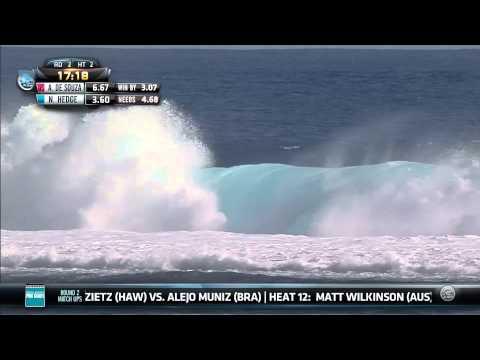 Adriano De Souza vs. Nathan Hedge - 2014 Billabong Pro Tahiti