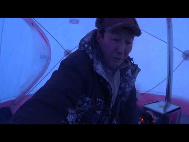 Тестируем палатку Медведь куб 4 с печкой пошехонкой малой в  45С  Якутия