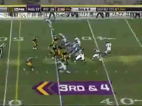 Adrian Peterson trucks Steelers William Gay!!