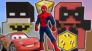 ÖRÜMCEK ADAM VS DEADPOOL - Batman Şans Blokları (Minecraft)
