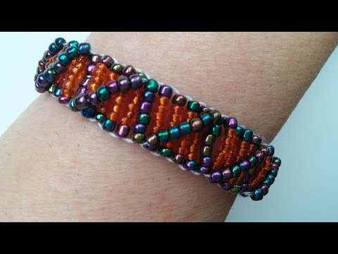Easy Beaded Bracelet Pattern For Beginners Seed Beads Bracelet Simple Bead Loom Patterns For Beginners