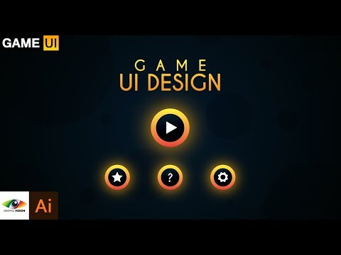 Adobe Illustrator Game UI Design + Glow Buttons Tutorial (Mobile Game Menu)
