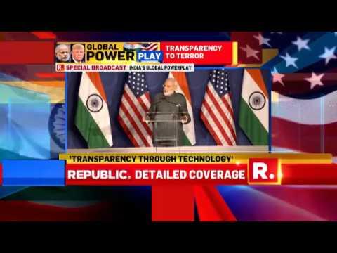 PM Narendra Modi Addresses The US Indian Diaspora in Washington DC.