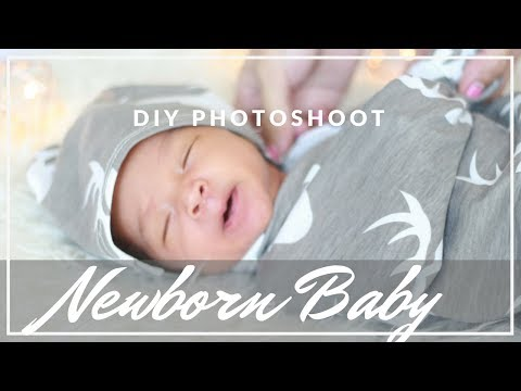 diy-newborn-baby's-first-photoshoot-|-how-to-take-baby-pictures-at-home?