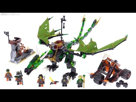 LEGO Ninjago Green NRG Dragon review! 70593
