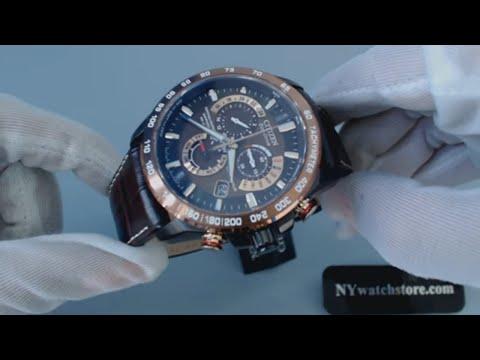 Men's Citizen Eco Drive Perpetual Chrono A T Atomic Watch AT4006 06X