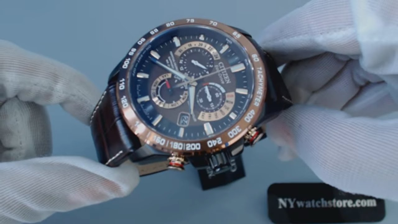f4634a64f Men's Citizen Eco Drive Perpetual Chrono A T Atomic Watch AT4006 06X -  YouTube