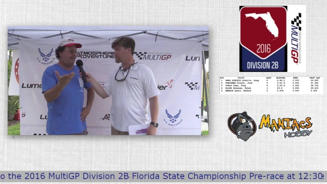 2016 MultiGP 2B Florida Finals Interview with Dean Palermo