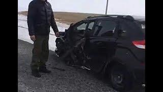 Авария между Новодубровным и Сенжаркой Мамлютский район