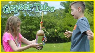 GEYSER TUBE. DOES IT WORK? MENTOS & SODA EXPERIMENT