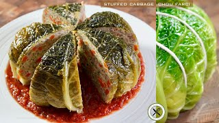 Stuffed Cabbage / Chou Farci – Bruno Albouze – THE REAL DEAL