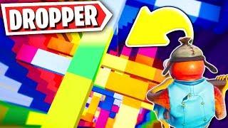 World's Biggest Rainbow Dropper Map Challenge (Fortnite Creative Mode)