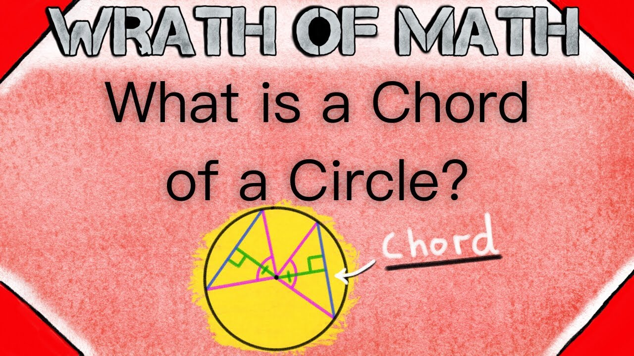 What is a Circle Chord   Geometry, Circle Chords, Properties of Chords