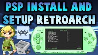 PSP Install & Setup RetroArch 1.6.7! (SNES/GBA/NES/SMS)