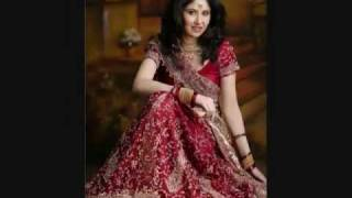 indian pakistani wedding dress, jewelry and make up