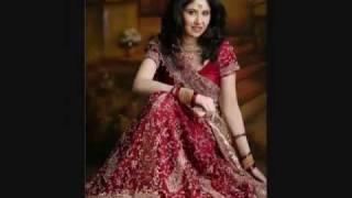 indian pakistani wedding dress, jewelry and make up