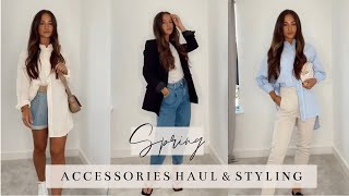SPRING ACCESSORIES HAUL & STYLING - TOPSHOP, ASOS, RUSSELL & BROMLEY | RACHEL HOLLAND