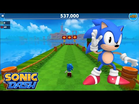Sonic Dash (iOS) - Classic Sonic Gameplay