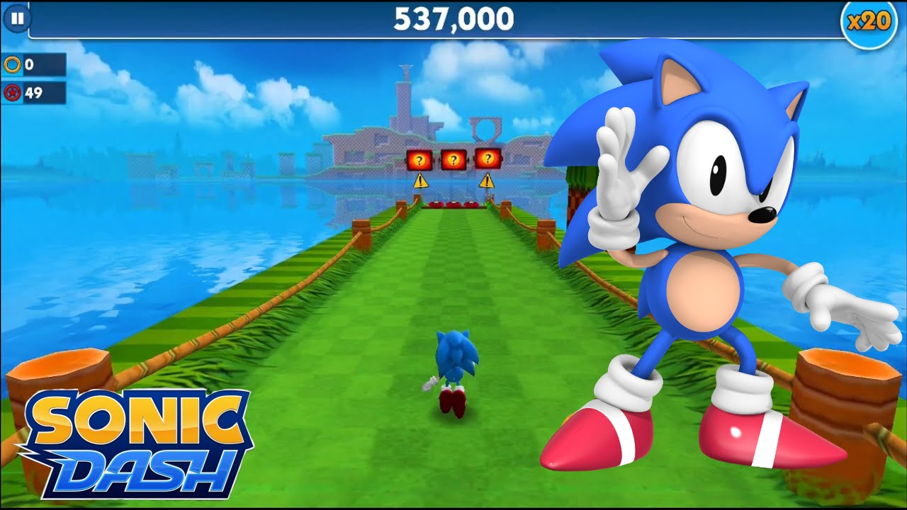 Sonic Dash Ios Classic Sonic Gameplay Youtube