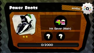 Splatoon - Squid Amiibo Challenges - Getting The Power Boots