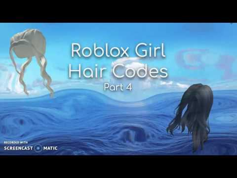 Roblox Girl Hair Codes Part 5 Youtube