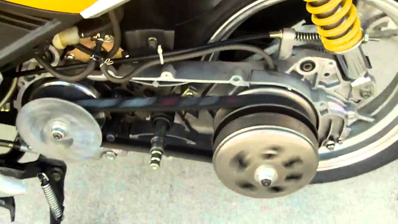 hight resolution of chinese scooters cvt transmission clutch belt and pulley inspection youtube