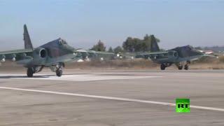 بالفيديو.. لأول مرة سلاح الجو السوري يوفر غطاء جويا للمقاتلات الروسية في مهمة مشتركة