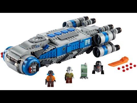 Lego Star Wars 75140 Resistance Troop Transporter Lego Speed Build Youtube