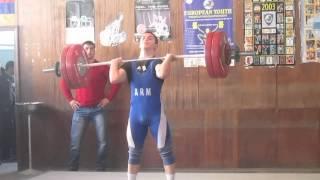 Davit Mikaelyan 142 кг толчок