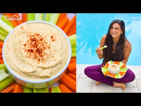 The BEST Fullyraw Vegan Hummus Recipe EVER!...in the Kitchen with Dad! #approved