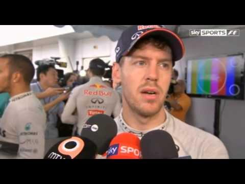 Malaysian Grand Prix F1 - Sebastian Vettel Interview - 24/03/13