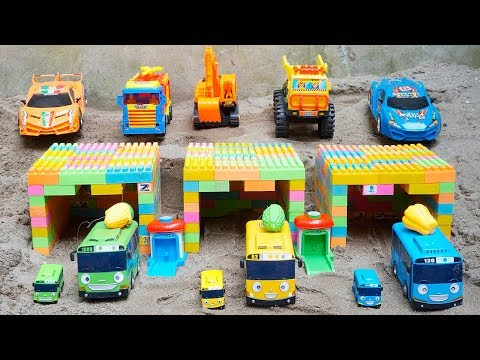Fire Truck Toys rescues Tayo the Little Bus Escape Tyrant Dinosaur | Kids And Toy Cars for Kids