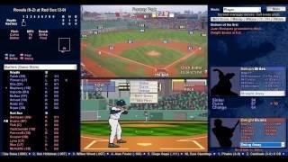 Baseball Mogul 2015 - Red Sox vs Royals 4/4/74 lets see if we can throw a no hitter :-)