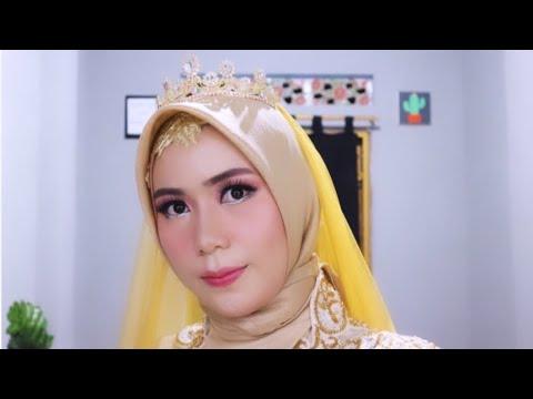 Tutorial Hijab Pengantin Simple Kekinian Hijab Pengantin 2019 Youtube