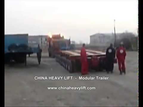 CHINA HEAVY LIFT Modular Trailer After sales service in Georgia (hydraulic multi axle) 15