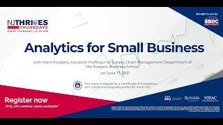 NJTT #007: Analytics for Small Business