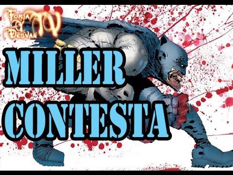 FRANK MILLER CONTESTA SOBRE BATMAN DARK KNIGHT III MASTER RACE