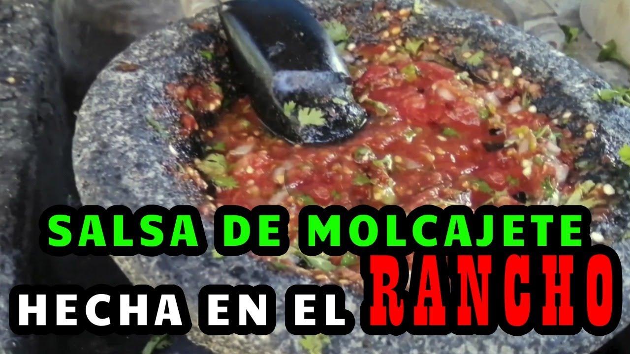 El sabor del rancho👌 //SALSA DE MOLCAJETE//