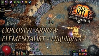 Path Of Exile 2.4: Explosive Arrow Elementalist - Highlights before upgrade to Grand Spectrum