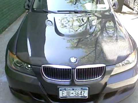 Bmw E90 W E93 M3 Carbon Fiber Style Hood Youtube