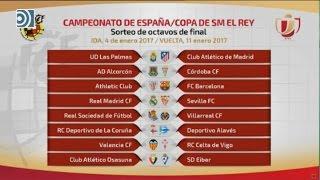 Real Madrid - Sevilla, Bilbao - Barça y Las Palmas - Atlético, en octavos de la Copa del Rey