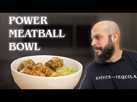 TURKEY MEATBALL BOWL | A Powerful Protein Packed Snack!