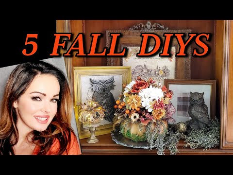5 DIYs For Fall! Using Dollar Tree, Hobby Lobby, Michaels, Thrifted And Recycled Items!
