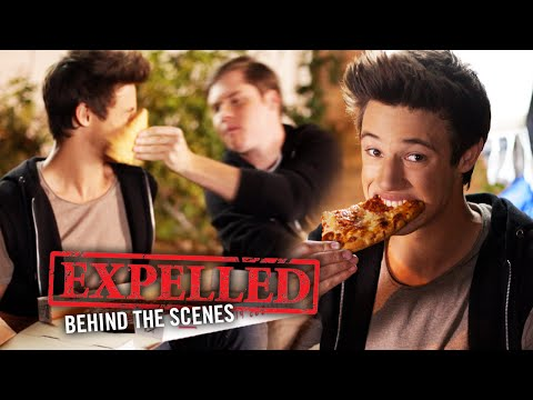 Pizza Slap with Matt Shively & Cameron Dallas! Expelled Movie Behind the s