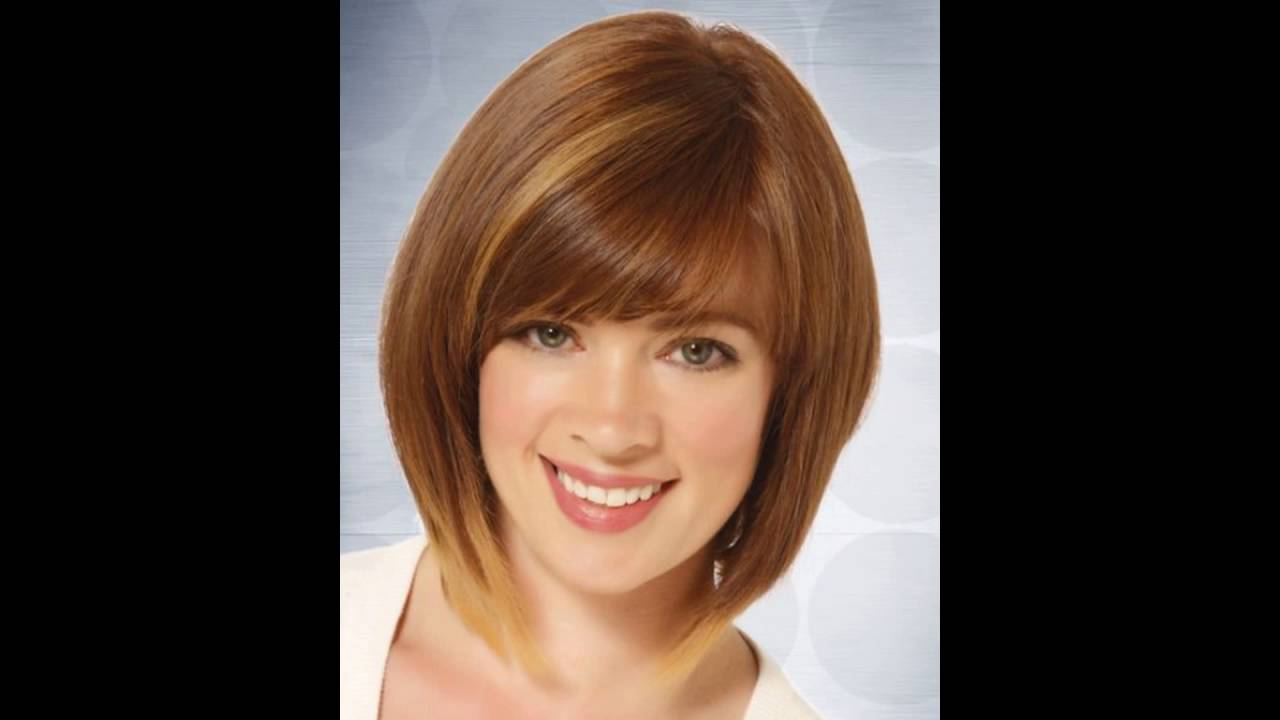 Short Straight Casual Bob Hairstyle Light Brunette Youtube