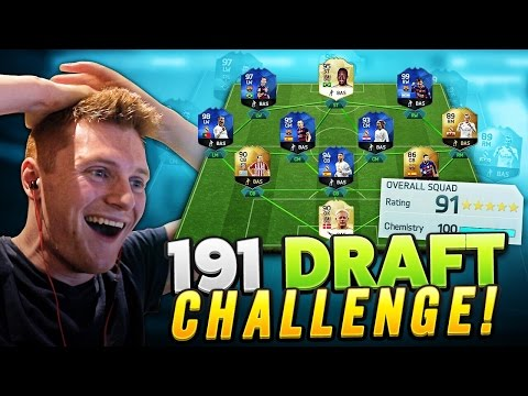 FIFA 16 - ATTEMPTING THE IMPOSSIBLE 191 FUT DRAFT!!!