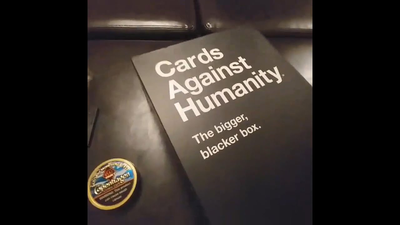 Cards Against Humanity New Bigger Blacker Box secret cards location - YouTube