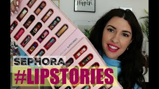 NEW SEPHORA LIP STORIES - REVIEW & 30 SWATCHES (& GIVEAWAY) ● MarilliasChoice