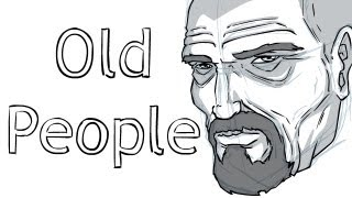 How to Draw Old People (Age Lines)